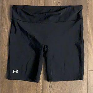 Under armor black spandex shorts (2)